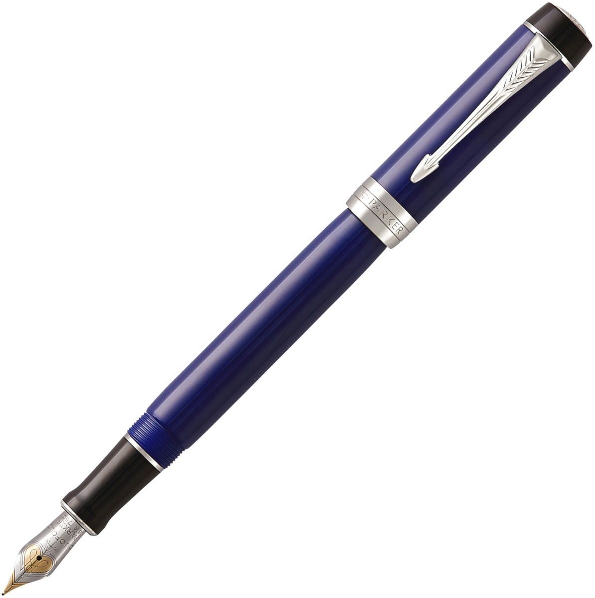 Перьевая ручка Parker Duofold Classic Centennial F77, Blue and Black CT (Перо F)