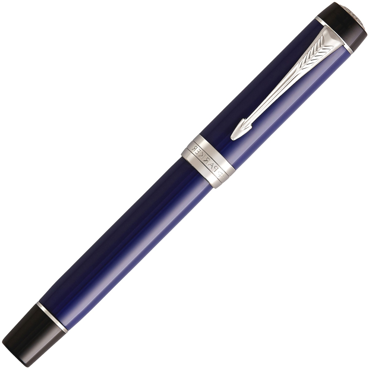 Ручка-роллер Parker Duofold Classic International T74, Blue and Black CT, фото 2