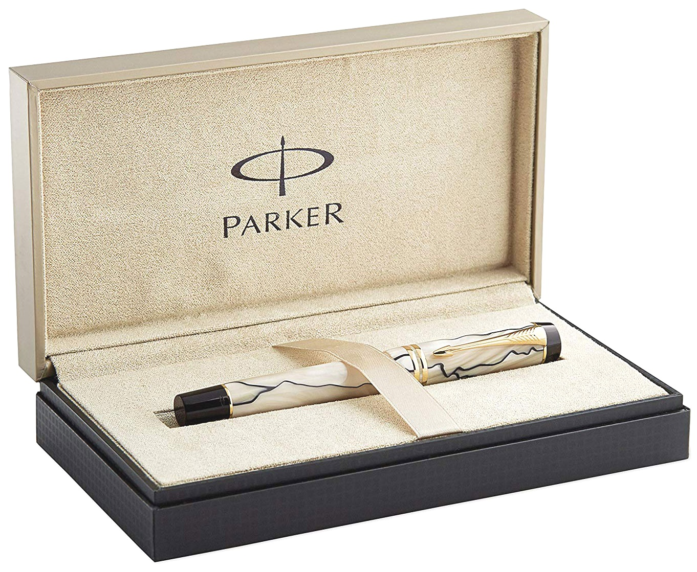 Ручка-роллер Parker Duofold T186, Pearl & Black, фото 4