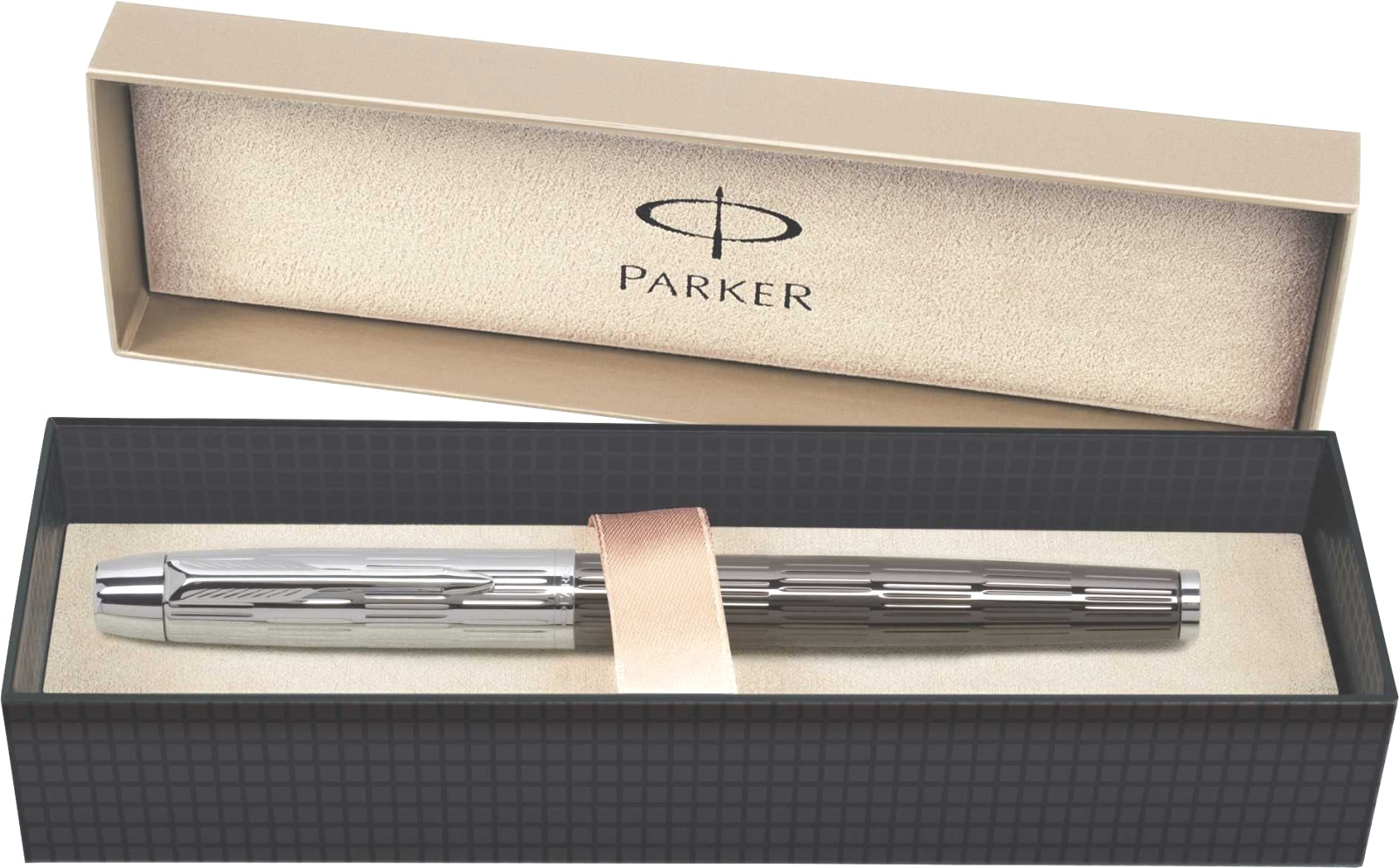 Ручка-роллер Parker IM Premium T222, Twin Chiselled, фото 3
