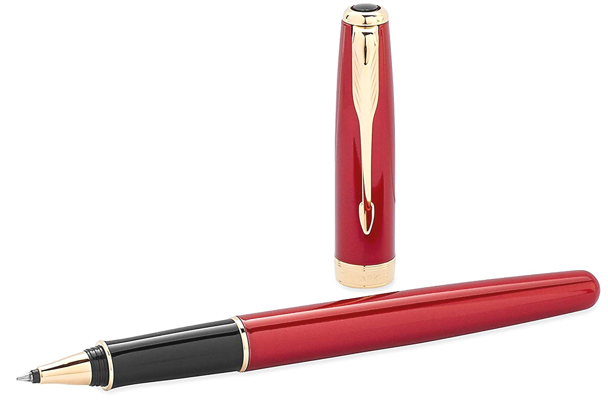 Ручка-роллер Parker Sonnet `13 T539, Lacquer Red GT, фото 3