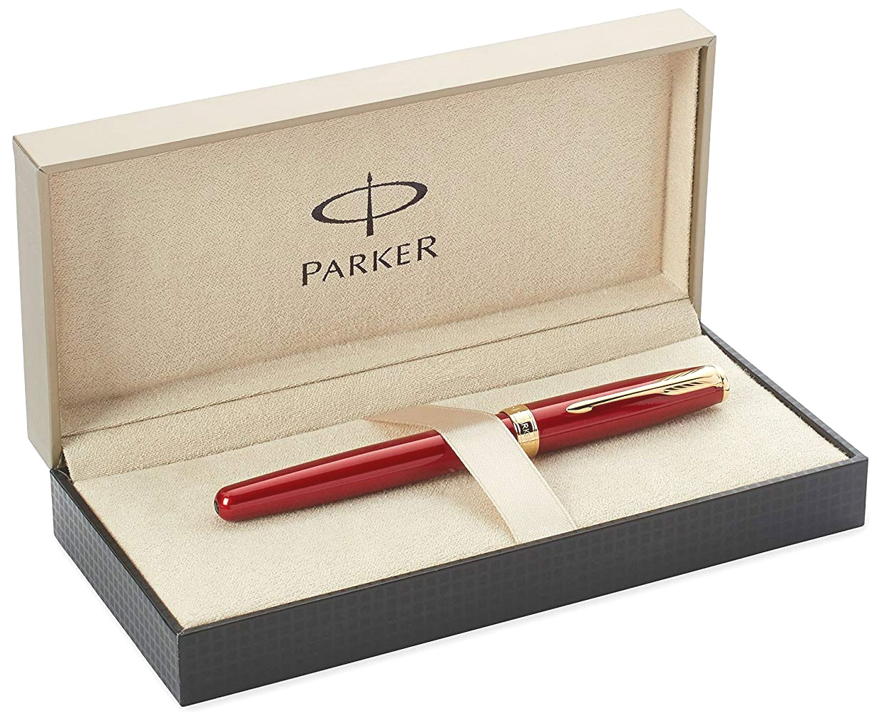 Ручка-роллер Parker Sonnet `13 T539, Lacquer Red GT, фото 4