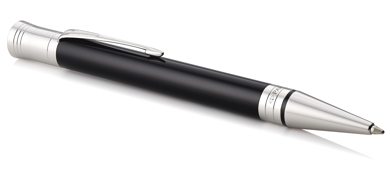Шариковая ручка Parker Duofold Classic International K74, Black CT, фото 2